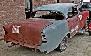 56 Chevy ready for restoration